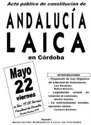 Presentación Córdoba Laica. 22 de mayo de 2009